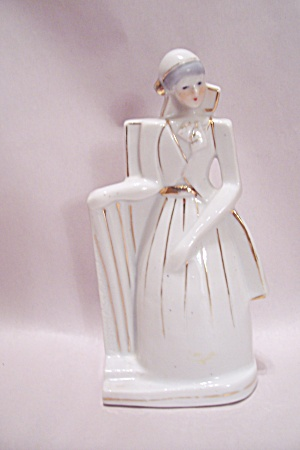 Art Deco Style Porcelain Female Figurine