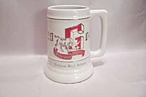 Graham High School Porcelain Beer Mug