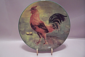 Handpainted Rooster Collector Plate