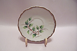Porcelain December Holly Saucer