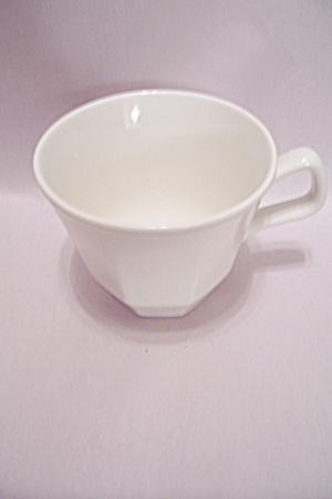 Homer Laughlin Colonial White  Fine China Footed Cup (Image1)