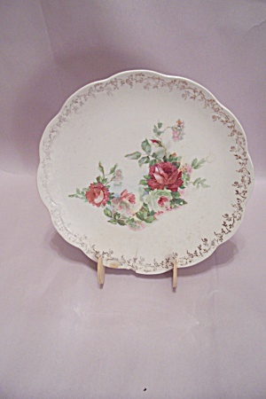 Rose Pattern China Plate
