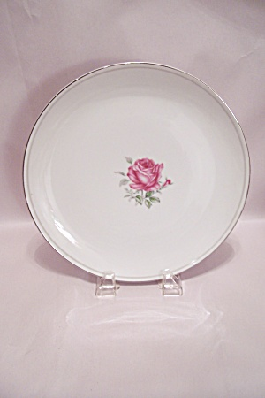 Imperial Rose Pattern Fine China Dinner Plate