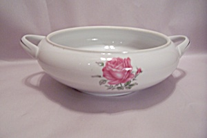 Imperial Rose Pattern Serving Bowl With Handles