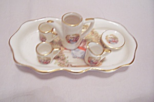 Miniature Doll House Tea Set With Tray