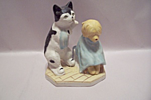 Cat & Dog Porcelain Figurine