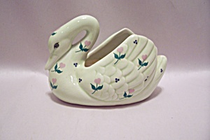 Taiwanese Porcelain Swan Candle Holder