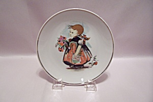 Hand Painted Little Flower Girl Collector Plate