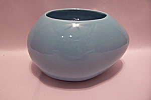 Haeger Turquoise Pottery Egg-Shaped Bowl (Image1)