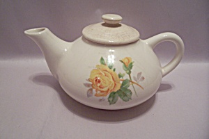 Edwin M. Knowles Rose Decorated China Teapot