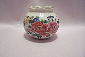 Omc Porcelain Miniature Flower Decorated Bowl