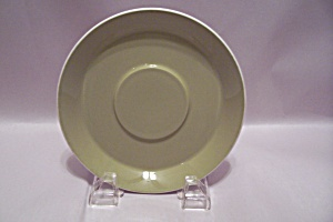 Mikasa Duplex Pattern Olive Green China Saucer