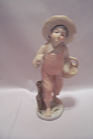 Porcelain Handpainted Young Boy Figurine (Image1)