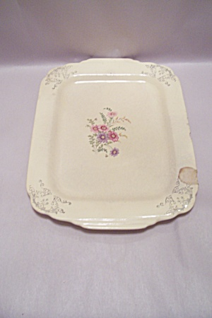 Homer Laughlin Floral Decorated Rectangular Platter, (Image1)