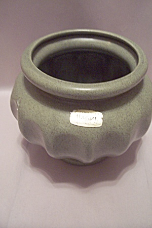 Haeger Olive Green Bulbous Pottery Vase