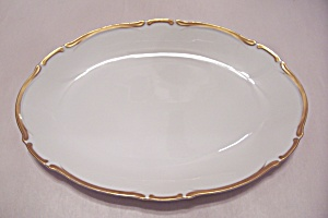 Harmony House Golden Starlight China Oval Platter