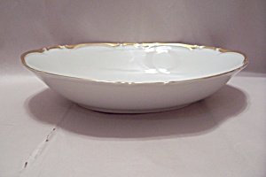 Harmony House Golden Starlight China Oval Serving Bowl