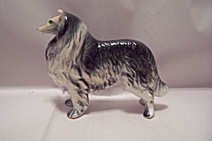 Porcelain Collie Dog Figurine
