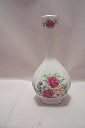 Porcelain Floral Decorated Miniature Vase