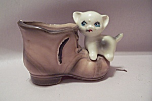 "Porcelain Puss ""n"" Boots Toothpick Holder"
