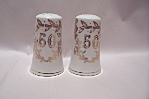 Lefton China 50th Anniversary Salt & Pepper Shaker Set