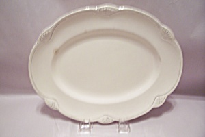 Home Laughlin Pattern C 40 N 8 White China Oval Platter