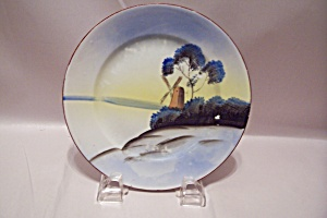 Occupied Japan Handpainted Dutch Scene Collector Plate