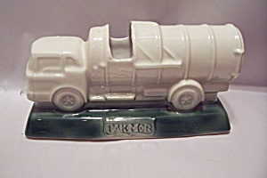Pak Mor Advertising Garbage Truck Pottery Cache Pot