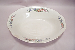 The Crescent China Oval Vegetable Serving Bowl
