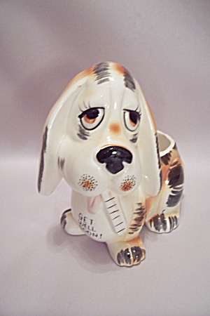 Japanese Porcelain Get Well Soon Puppy Planter
