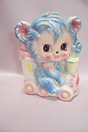 Japanese Porcelain Kitty Cat Porcelain Planter