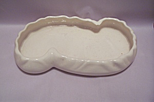 Haeger White Pottery Oblong Tray