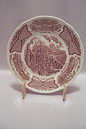 Alfred Meakin Staffordshire Fair Winds Collector Plate