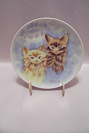 Norleans Hand Painted Kittens Collector Plate