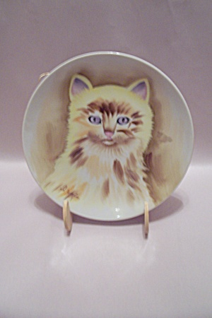 Norleans Hand Painted Cat Collector Plate