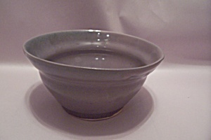Grayish Hand Thrown Art Pottery Bowl