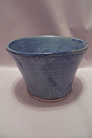 Blue Hand Thrown Art Pottery Bowl