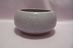Greenish-gray Hand Thrown Art Pottery Bowl