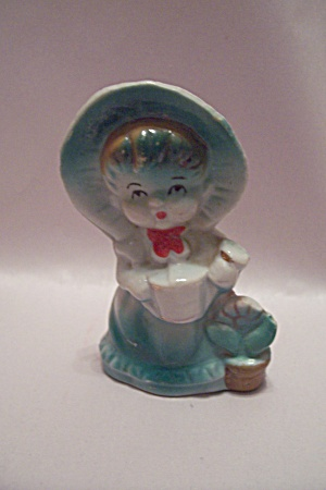 Occupied Japan Hand Painted Little Girl Figurine