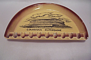 Louisiana Superdome Souvenir Porcelain Ash Tray