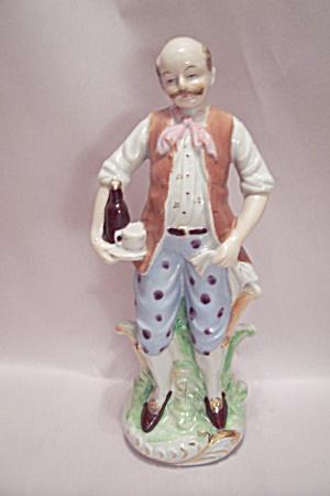 Colonial Era Bar Waiter Porcelain Figurine (Image1)