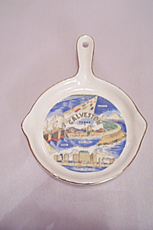 Galveston, Texas Souvenir Porcelain Spoon Rest