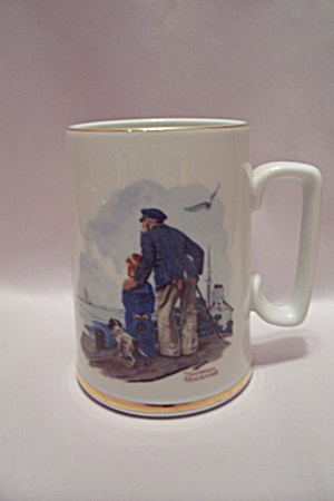 Norman Rockwell - Looking Out To Sea - Porcelain Mug