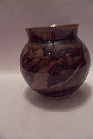 Hand Thrown Brown Earth Tones Art Pottery Bowl