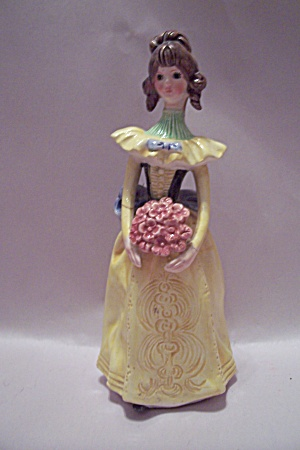 Porcelain Formal Dressed Young Lady Figurine
