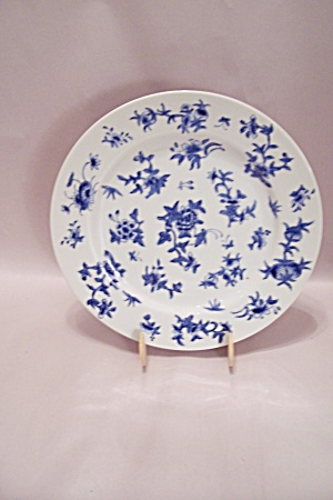 Flow Blue Style China Dinner Plate