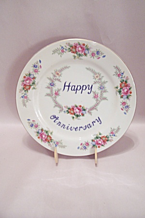 Happy Anniversary China Collector Plate