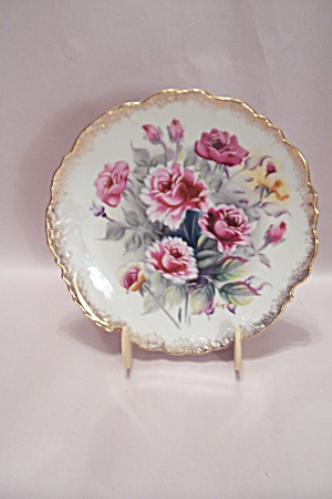 Rose Decorated Collector Plate