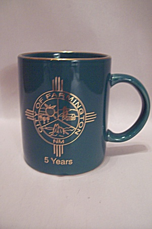 Farmington, Nm Green Porcelain Souvenir/service Mug