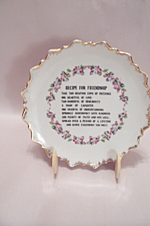 Recipe For Friendship Collector Plate
